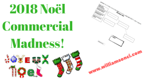 2018 Noël Commercial Madness!